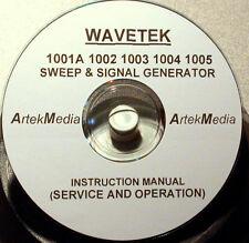 Wavetek 1001A 1002 1003 1004 1005 Operating & Service Manual