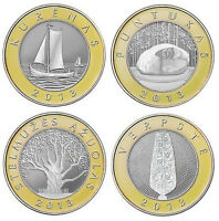 LITHUANIA 4 Coins Set of 2 Litas made in 2013 BiM UNC