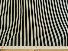 Thermal Weave White and Black Striped Stretch Fabric Per Yard x 50""