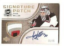 Ryan Miller 2005-06 Upper Deck The Cup Signature Patch Auto 21/75 4-color