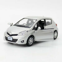 1:36 Toyota Yaris Model Car Alloy Diecast Gift Toy Vehicle Kids Silver Pull Back