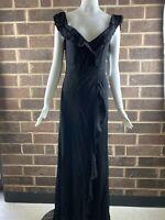 NWT Women's Flynn Skye Black Long Back Zip Dress Size M