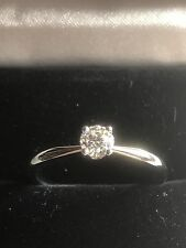 New GIA CERTIFIED 0.31Ct E/VS2 Round Diamond Solitaire Engagement Ring Platinum