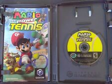 MARIO POWER TENNIS (GCN)(Game Disc, Cover Art, Instruction Manual)