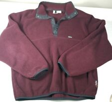Woolrich Polartec Fleece Pullover Black 1/2 Zip Jacket USA Mens Size XL