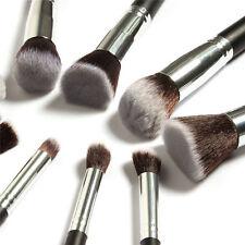 10PCS Kabuki Make Up Brush Face Powder Brush Foundation Blusher Black Set  kit