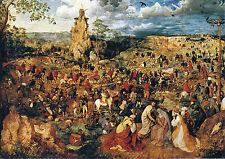 Pieter Bruegel the Elder - Christ carrying the Cross - Fine Art Canvas Print