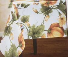 "Printed Linen Tablecloth 52 x 70"" Oblong,AUTUMN HARVEST,FALL, PUMPKIN TRELLIS,BM"