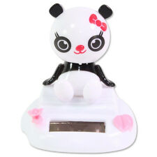 Sitting Bobblehead Panda Girl Solar Toy Home Decor Birthday Gift US Seller