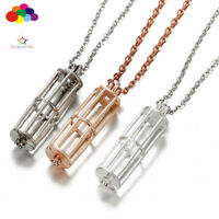 New Diffuser Long bird cage Necklace Lockets Perfume Essential Oil Aromatherapy