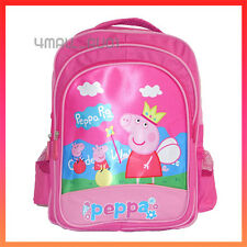 Kids Girls Shoulder Backpack Large School Bag Rucksack Peppa George Pig Gift