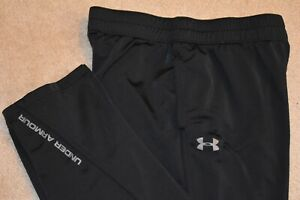UNDER ARMOUR LOOSE Men's Unlined Polyester Athletic Pants Black Size XL