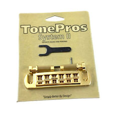 Tone Pros Gold AVT2G Locking Wraparound Bridge for Gibson® Guitar GB-2578-002