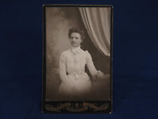 Thos. Burfield Cabinet Photo Young Lady Watch Chain White Gown Waconia Minn
