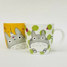 "Set Of 2 My Neighbor TOTORO Studio Ghibli Anime Porcelain Mugs 3.5"""