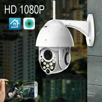 1080P HD WIFI IP Camera WHITE Wireless Outdoor CCTV Home Security IR Cam 128GB