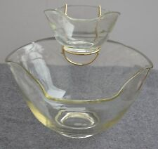 Indiana glass Tri Top Chip & Dip 3 pc set, Holiday, Christmas, New years Party's