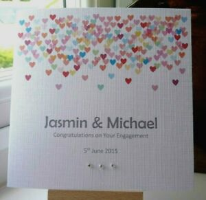 Personalised Engagement Wedding Day or Anniversary Card