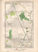 1936 LARGE SCALE MAP -  LONDON BOREHAMWOOD NEW EDGEWARE UPPER HALE STONE GROVE
