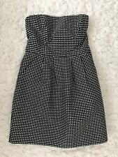 Rachel Roy Black w/ White Hearts Structured Tube Flare Dress (Size 4)