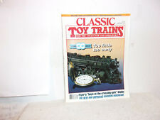 """CLASSIC TOY TRAINS MAGAZINE.""""TOO LITTTLE, TOO EARLY""""..SEPTEMBER, 1993"""