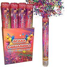 tubo spara coriandoli Party popper 40 cm Multicolor 10 pz capodanno,natale