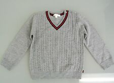 New Authentic Gucci Kids Long Sleeve V-Neck Sweater Top w/Web,9-12 Month, 270241
