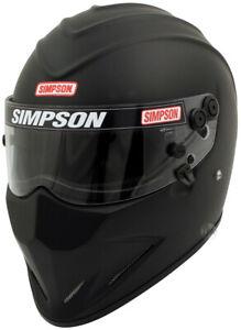 Simpson Diamondback Helmet Snell Sa2020 Matt Black M6 Msa Hans Stig car racing