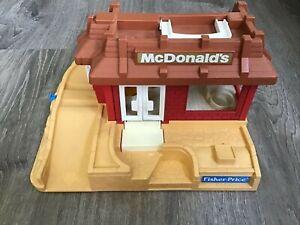Vintage 1989 Fisher Price Little People 2552 McDonalds Restaurant Only