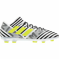 adidas Nemeziz 17.3 FG Soccer Cleats - White/Yellow/Black - S80599 - Size: 13
