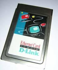 Vintage D-Link PCMCIA Ethernet LAN PC Card DE-650 + Combo Dongle Cable