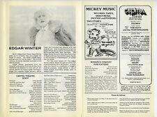 Blackfoot Edgar Winter Authentic 1980 One-Show-Only Concert Program