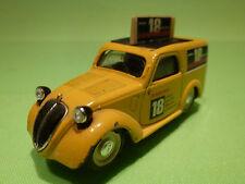 BRUMM FIAT 500B VAN 1949 - AMARO 18 - YELLOW 1:43 - RARE - GOOD CONDITION