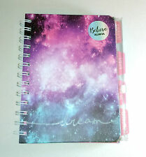 """Believe Dream ORGANISER JOURNAL 7x6"""" Diary Planner Notes To Do 2 PLASTIC WALLETS"""