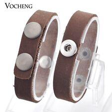 10pcs/lot DIY Top Layer Full Leather Bracelet Fit 12mm Charm Button Vb-055*10