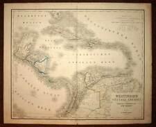 Carte géographique ancienne AMERIQUE CENTRALE ANTILLES par Henrich Kiepert 1850