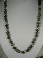 "20"" Bloodstone  Bead Necklace"