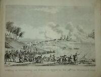 Gravure NAPOLEON BATAILLE d'ABOUKIR EGYPT EGYPTE 1800 DUPLESSI BERTAUX EMPIRE