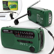 DEGEN DE13 Digital Radio Weltempfänger Handkurbel FM/MW/SW1/SW2 Solar Power *DE*