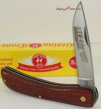Kissing Crane Solid Hardwood Brown Mule Farmer Gentleman's Folding Pocket Knife