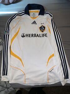 Los Angeles LA Galaxy 2007 David Beckham Authentic Formotion Long Sleeve Jersey
