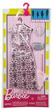 Barbie Doll Fashionistas Clothing Pack Fashion Outfit Pink Sliver Evening Dress