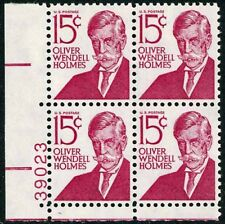 Scott 1288d 15¢ Oliver Wendell Holmes Type 2 Plate Block Mint NH