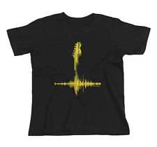 Kids YELLOW GUITAR FREQUENCY Guitarist Electric Acoustic Music Band T-Shirt