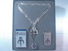 Star Wars Boba Fett Bounty Hunter Bantha Skull Dog Tag Necklace Ring Set PG