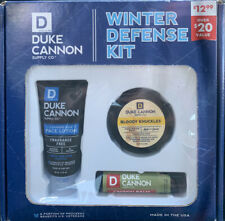 DUKE CANNON WINTER DEFENSE KIT! Lotion, Bloody Knuckles & Lip Balm BRAND NEW!!