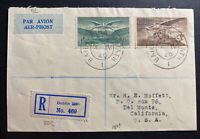 1949 Dublin Ireland First Day Airmail Cover FDC To Del Monte CA USA