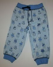 New Gymboree Blue Bear Print Jogger Pull On Pants Size 6-12m NWT Cubs & Hugs