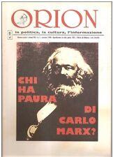 ORION RIVISTA CHI HA PAURA DI CARLO MARX? N.3 1998