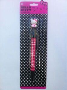 Pen Sanrio Hello Kitty Click Ball Pen Pink & Black Words New